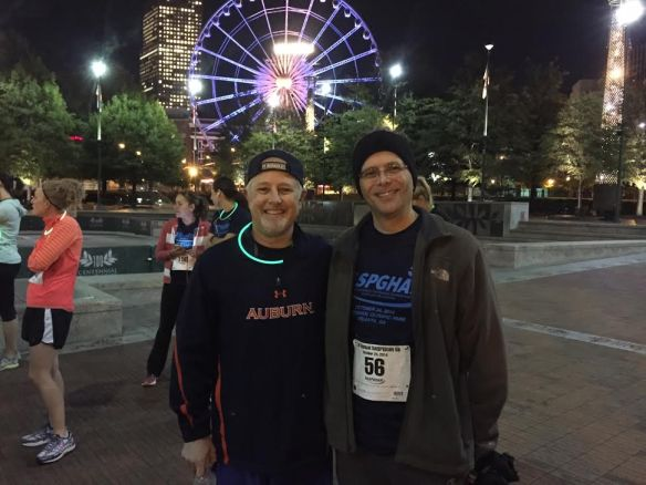 Ben Gold (speaker) and Jay Hochman prior to 5K Run