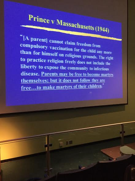 Legal Foundation for Compulsory Vaccination during Measles Epidemic