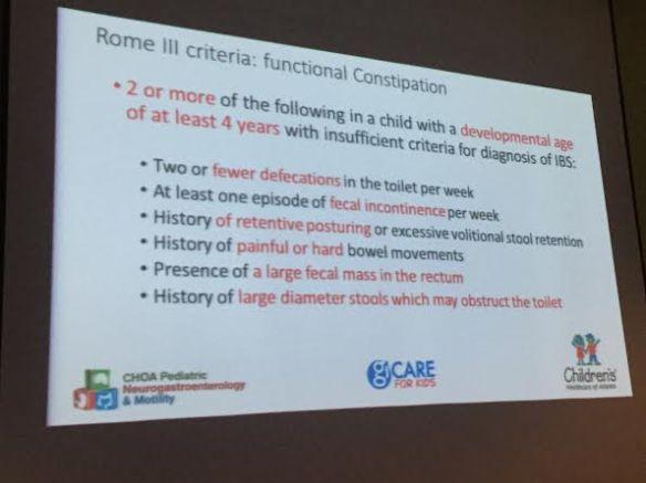 Rome III Criteria -Helpful in Diagnosis of Constipation