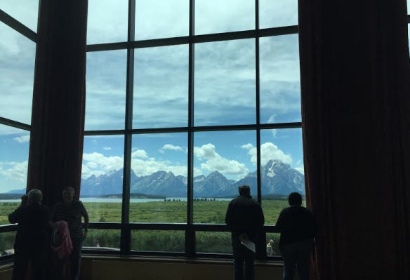These windows were huge -Grand Tetons in background