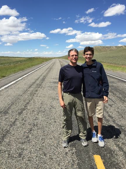 In Wyoming often there are stretches of nearly deserted highways