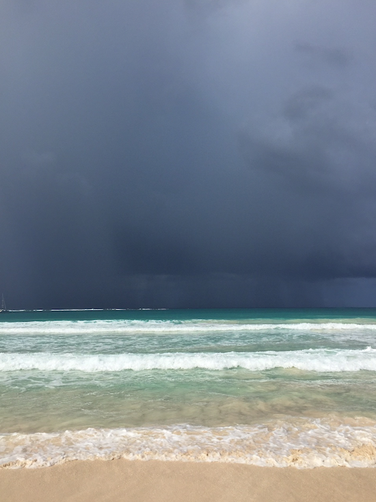 Flamenco Beach -Not the Best Day for the Beach