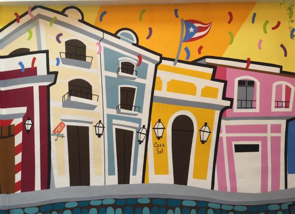 Mural, Old town San Juan