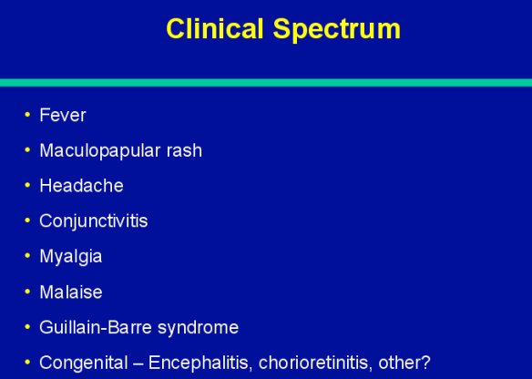 Most are asymptomatic. The clinical spectrum in those with symptoms are noted above.