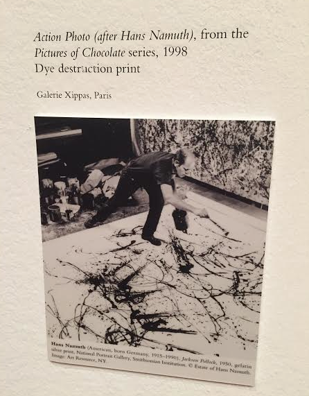 The Vik Muniz piece is modeled after this photograph of Jackson Pollack