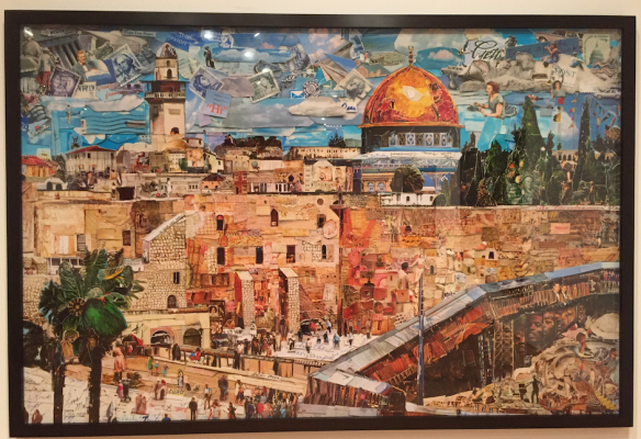 Jerusalem Collage -Made from hundreds of postcards.  Vik Muniz