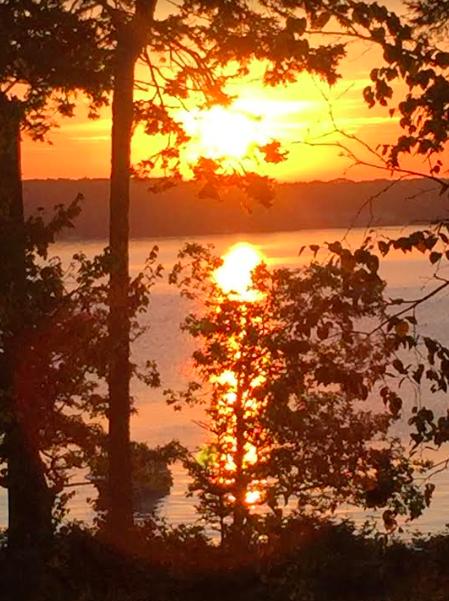 Sunrise at Spruce Point, Maine