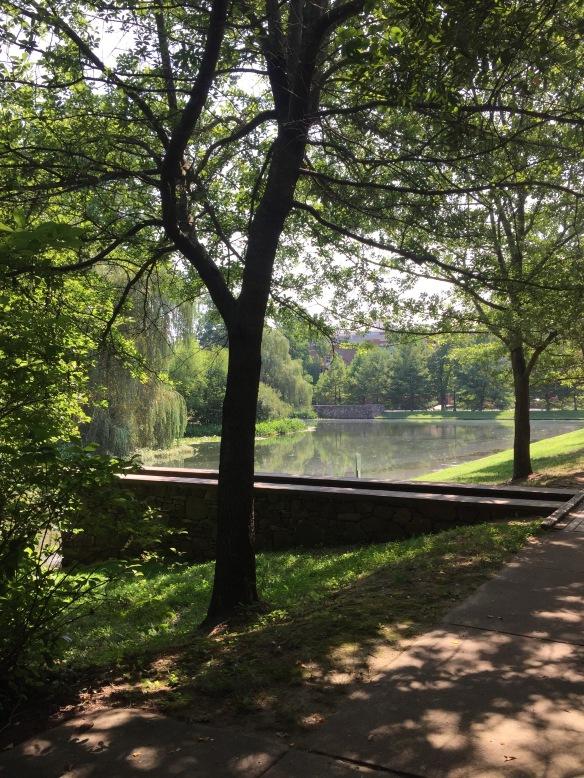 Quiet spot on Univ Virginia Grounds