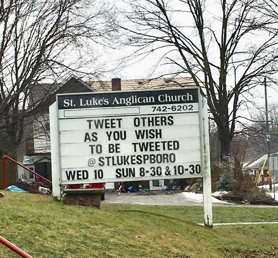 from Twitter's 'This Week in Church Signs' feed